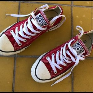 Red Converse All Star Women's 6.5